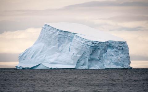Photograph of an iceberg