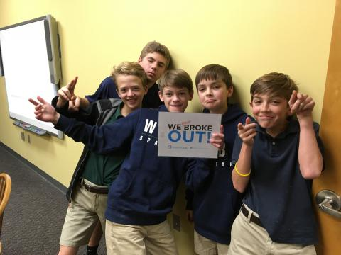 Group of boys who almost broke the code