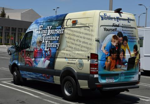 """Find Yourself at the Torrance Library"" van"