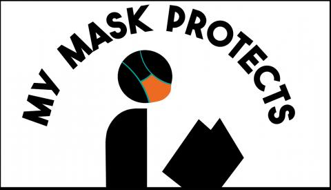 My Mask Protects My Community illustration