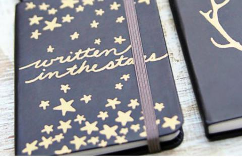 A notebook craft, perfect for teens in January