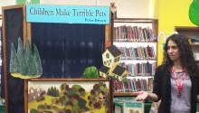 Librarians perform a puppet show
