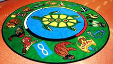 Indigenous Rug in our Children's Department