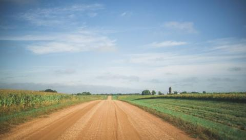 Photo of a rural road.