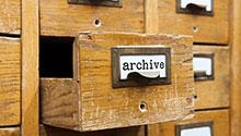 Archives card catalog