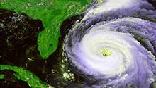 Hurricane rendering image by NASA