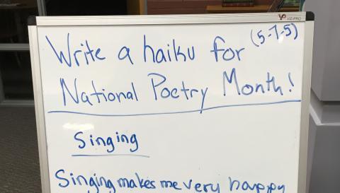 Writing on a whiteboard