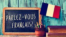 """Chalkboard reading """"Parlez-vous Francais?"""""""