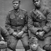 A group of African American soldiers in World War I