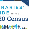 """Libraries' Guide to the 2020 Census"" with clip art people"