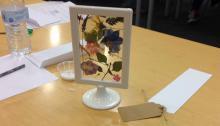 A finished flower frame