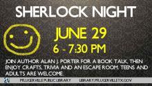 Sherlock Night publicity piece