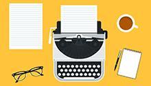 typewriter graphic