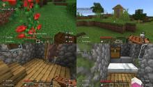 Screenshots taken from Virtual Minecraft Club