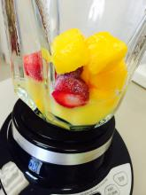 Blender with fruit
