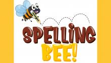 "Illustration of a bee and the words ""Spelling Bee!"""