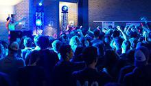 Dawg Daze DJ with students