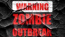 Zombie outbreak warning message