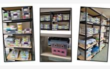 Photograph of shelves of toys in the Toy Lending Library