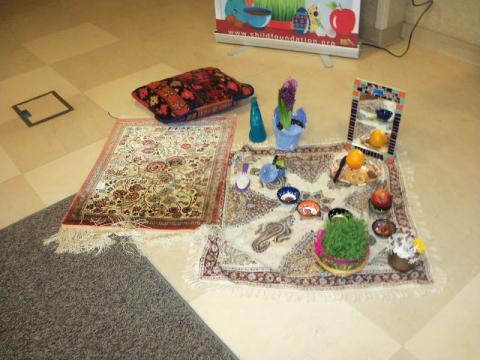 Haft seen table decoration display