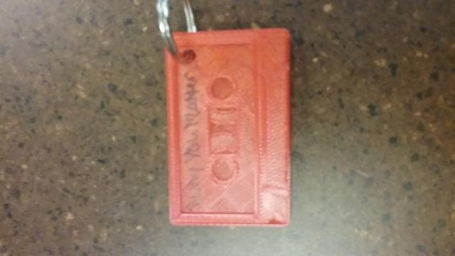 Cassette key chain made during the program