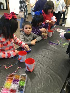 Phot of kids making crafts