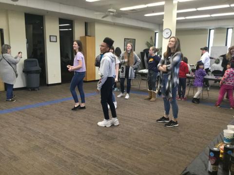 Photo of kids dancing