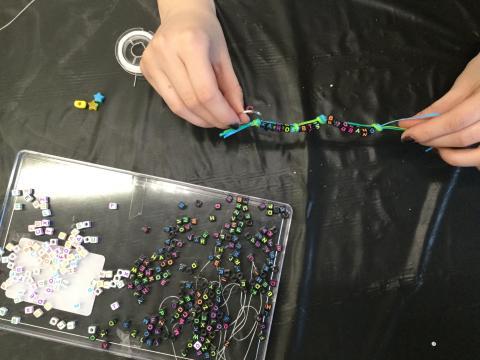 Photo of bracelet making