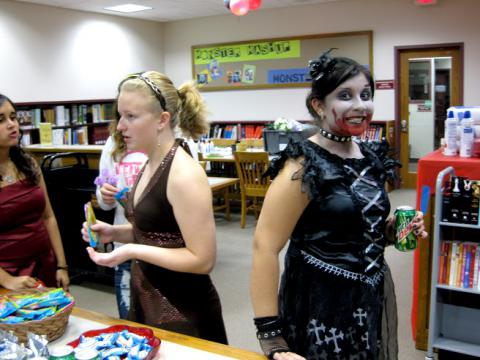 Patrons at Zombie Prom