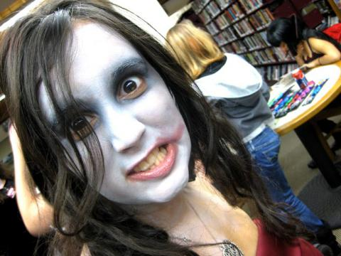Patron Dressed as Zombie