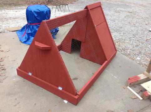 Newly built chicken coop