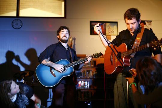 Band performing