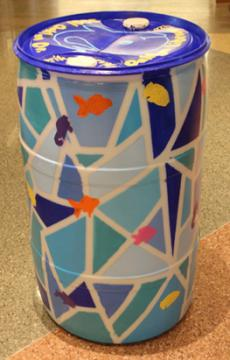 Barrel w/Fish: children's program at EVPL, 2015 (coordinated by Erika Qualls, Oaklyn Branch Experience Manager)