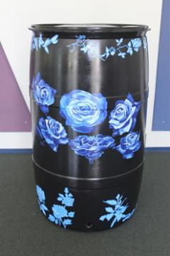 Black Barrel w/Blue Roses: EVPL and Youth Care Center, 2016 (coordinated by Michael Cherry)