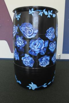 Black Barrel w/Blue Roses: EVPL and Youth Care Center, 2016 (coordinated by Michael Cherry) 2
