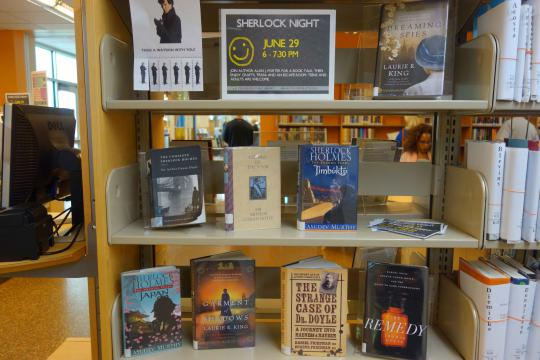 Book display for Sherlock Night