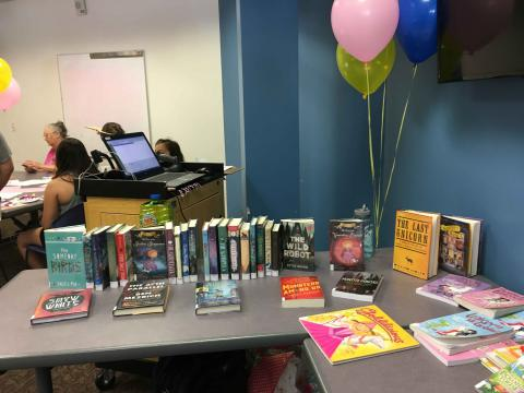 A display of unicorn-themed books