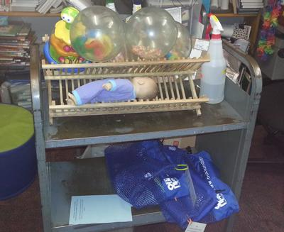 Toy Cleaning Cart