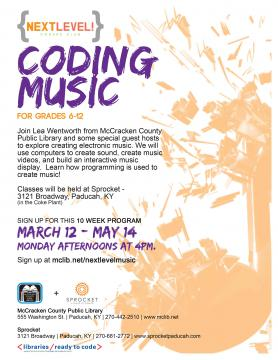 Music Coding program flier