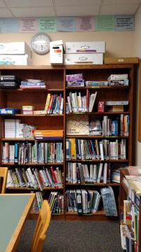 The HRC is stocked with games, curriculum and books.