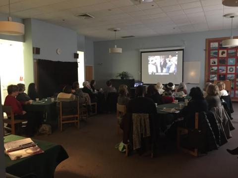 Participants watching Downton Abbey