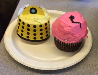 """""""Dr. Who"""" cupcakes"""