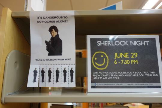 Sherlock paper cutouts
