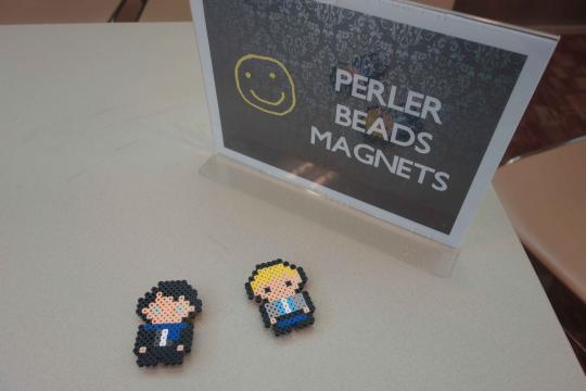 Perler bead magnets