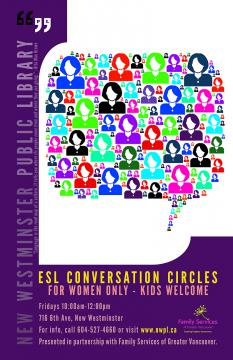 ESL Conversation Circles - Women Only Poster