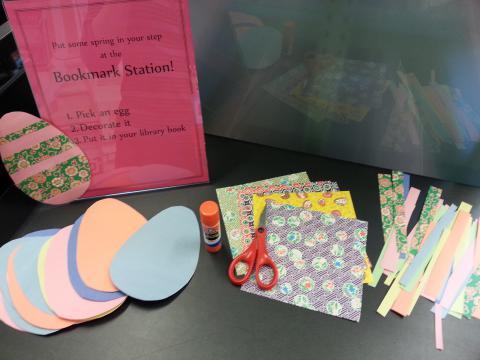Easter egg bookmark craft