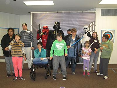 Group with Star Wars characters