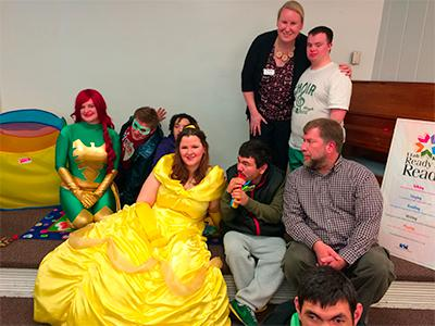 Group with superhero and Disney princess