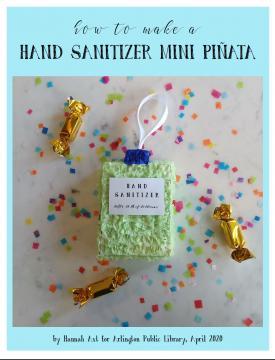 Hand sanitizer-shaped mini piñata