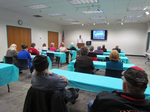 The Lunch n' Learn session usually draws a crowd of 15 to 20 people.